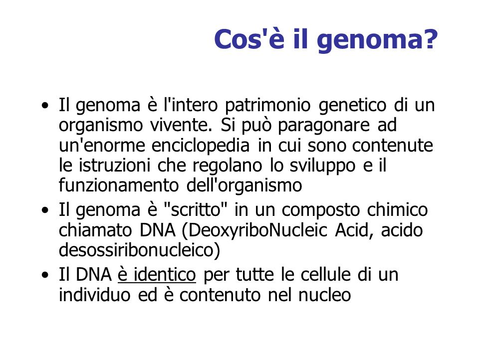 Cos è il genoma