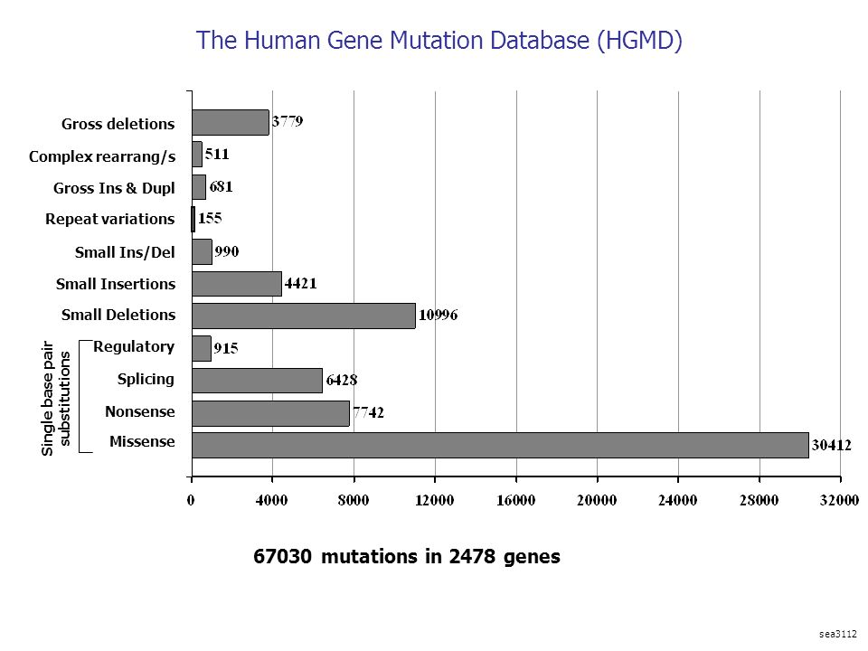 The Human Gene Mutation Database (HGMD)