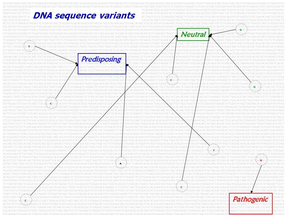 DNA sequence variants Neutral Predisposing Pathogenic