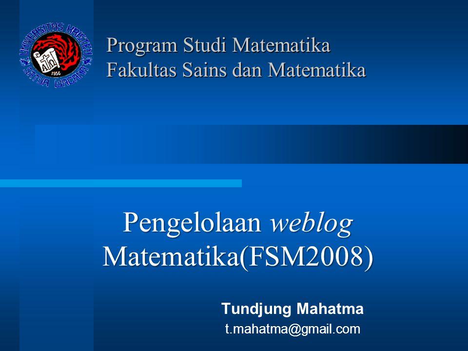 Program Studi Matematika Fakultas Sains dan Matematika