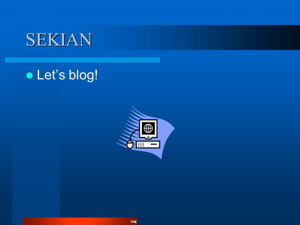 SEKIAN Let's blog!