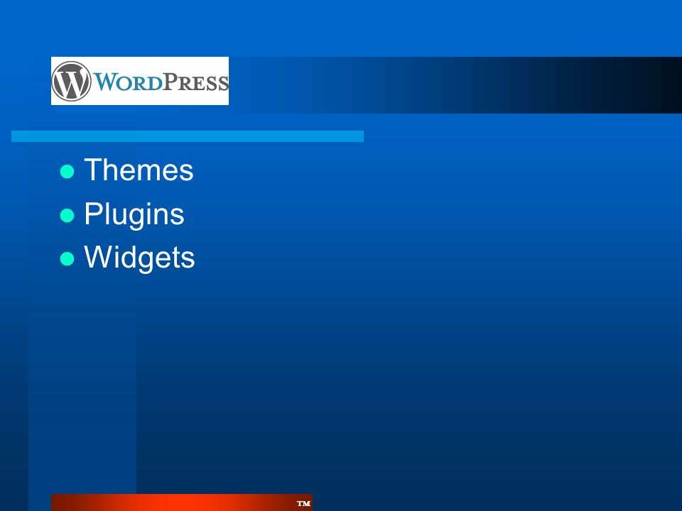 Themes Plugins Widgets