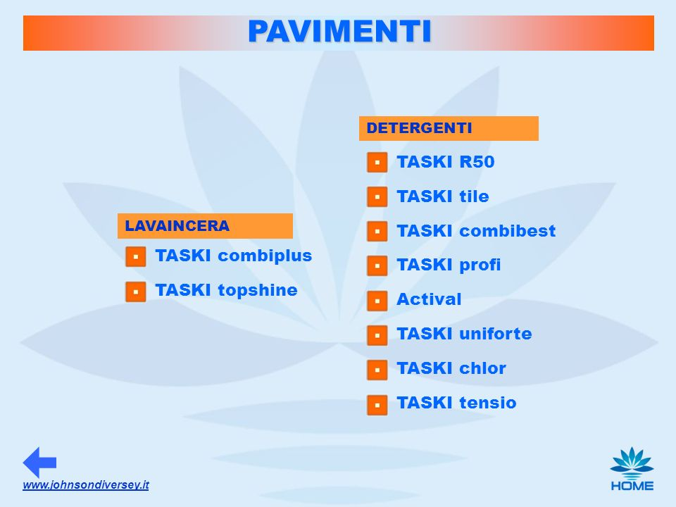 PAVIMENTI TASKI R50 TASKI tile TASKI combibest TASKI profi Actival