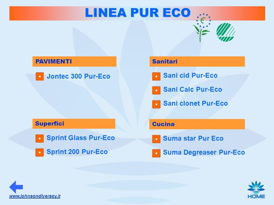 LINEA PUR ECO Jontec 300 Pur-Eco Sani cid Pur-Eco Sani Calc Pur-Eco