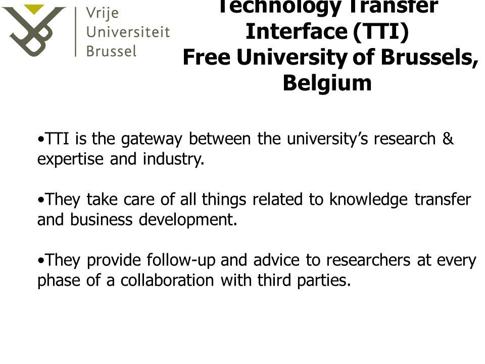Technology Transfer Interface (TTI) Free University of Brussels, Belgium