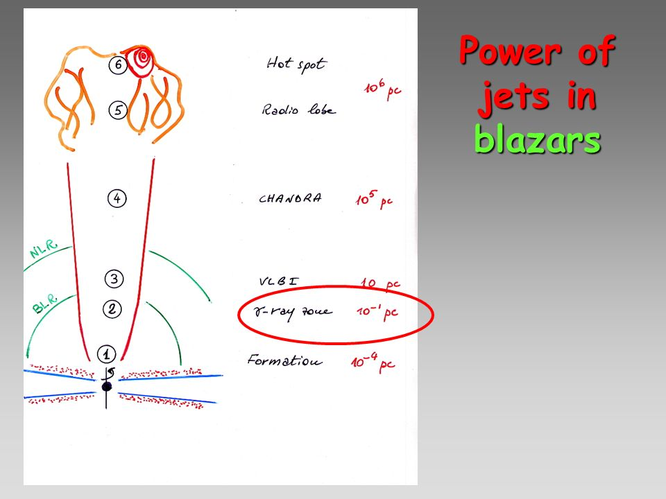 Power of jets in blazars