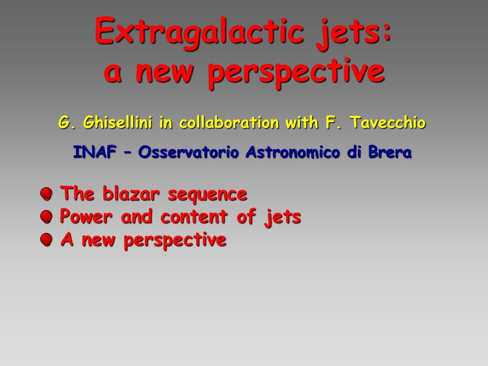 Extragalactic jets: a new perspective