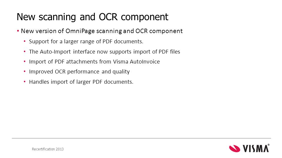 New scanning and OCR component
