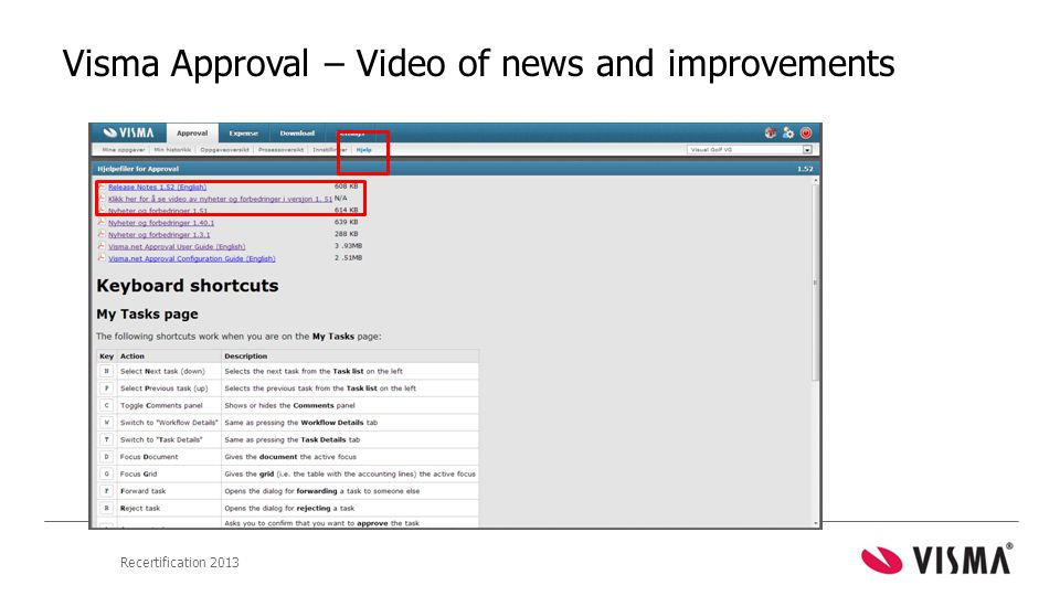 Visma Approval – Video of news and improvements