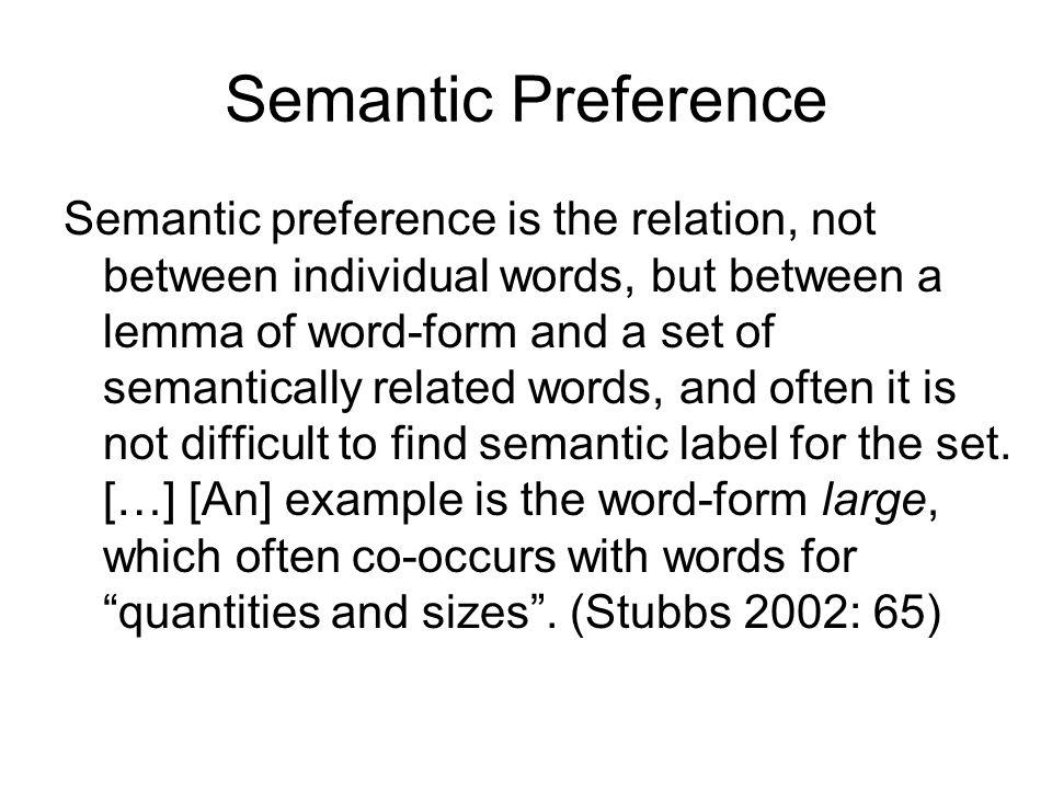 Semantic Preference