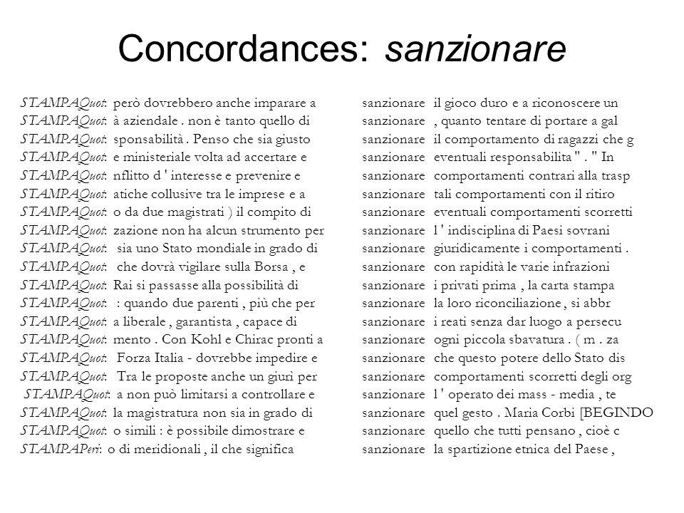 Concordances: sanzionare