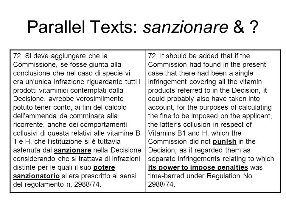 Parallel Texts: sanzionare &