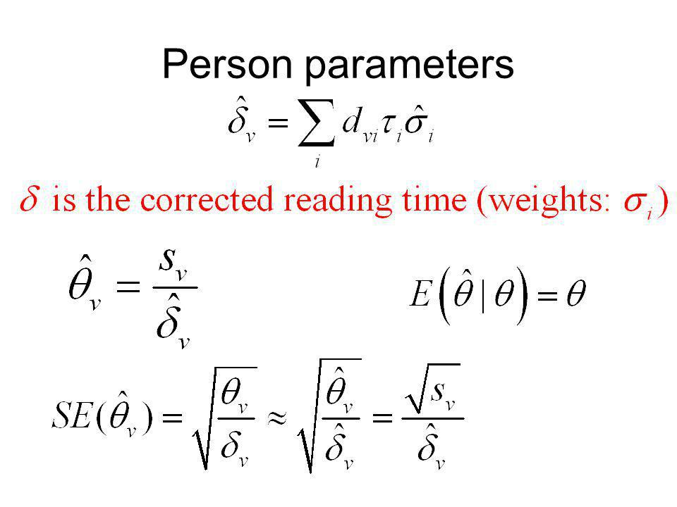 Person parameters