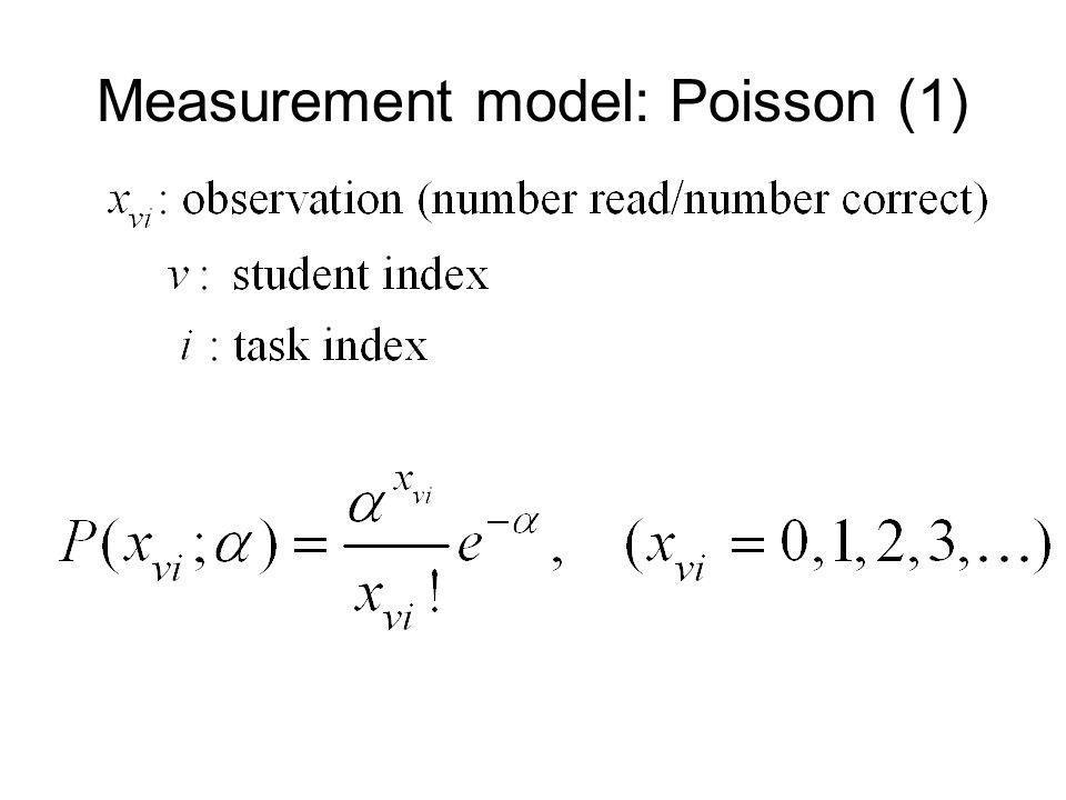 Measurement model: Poisson (1)