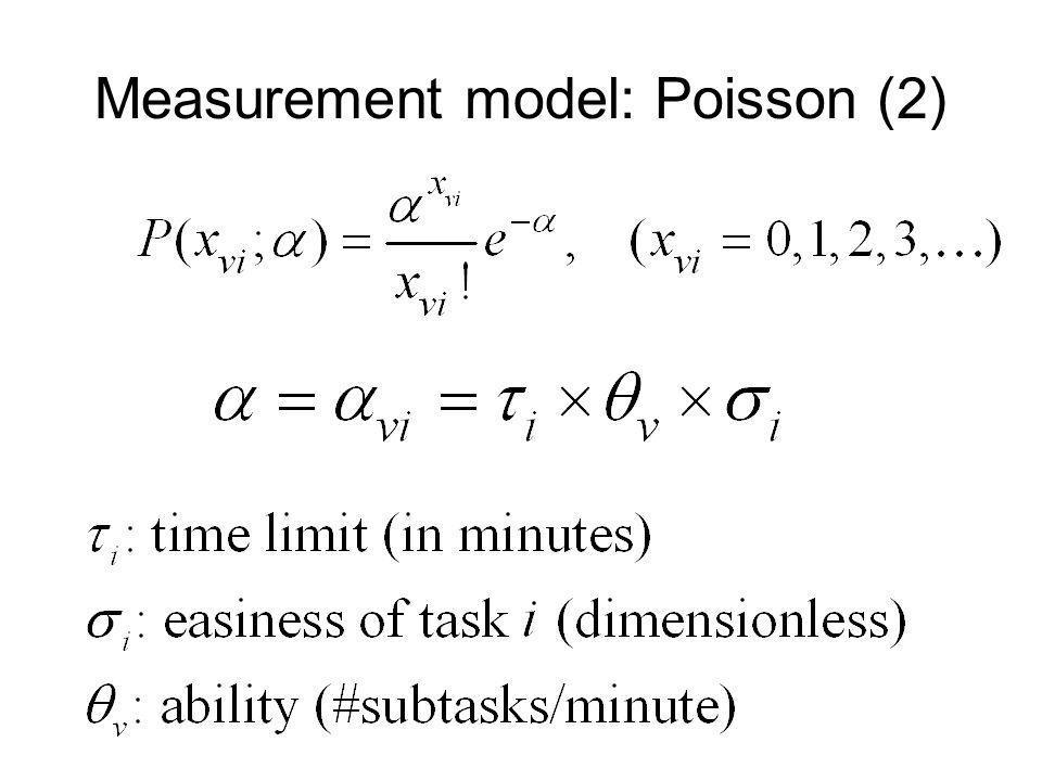 Measurement model: Poisson (2)