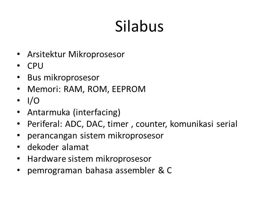 Silabus Arsitektur Mikroprosesor CPU Bus mikroprosesor