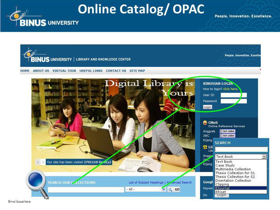 Online Catalog/ OPAC Bina Nusantara