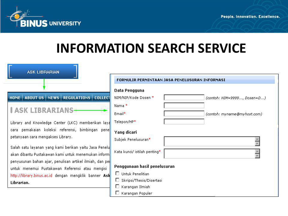 INFORMATION SEARCH SERVICE
