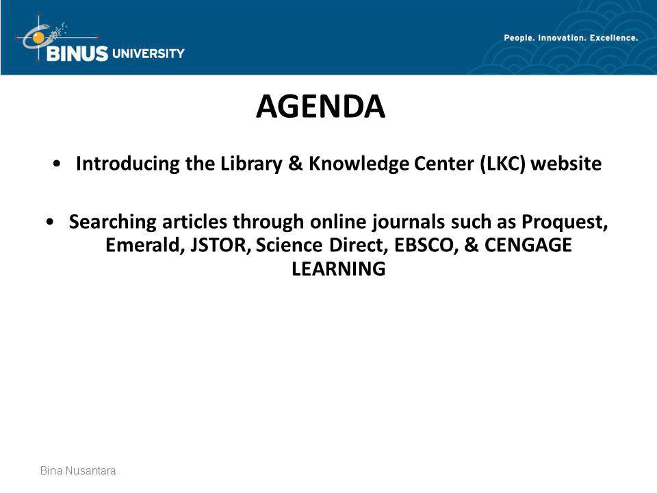 Introducing the Library & Knowledge Center (LKC) website