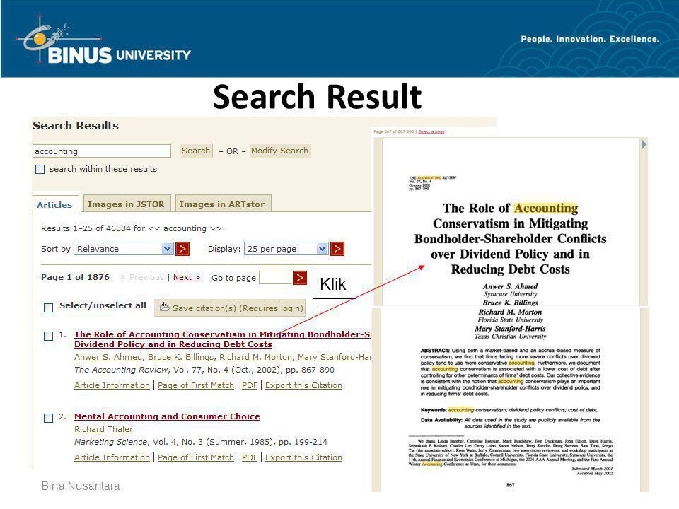 Search Result Klik Bina Nusantara