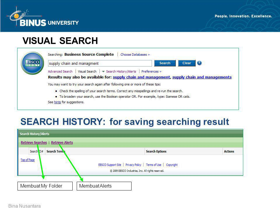 SEARCH HISTORY: for saving searching result