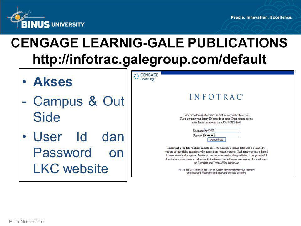 User Id dan Password on LKC website