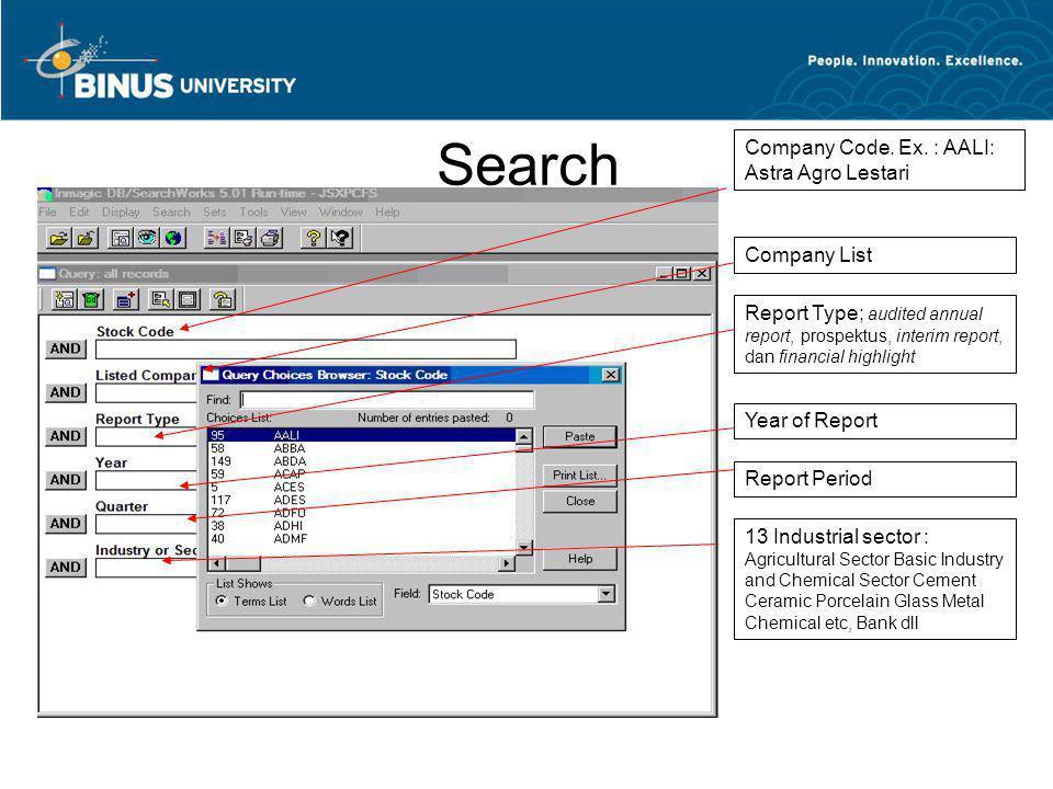 Search Company Code. Ex. : AALI: Astra Agro Lestari Company List