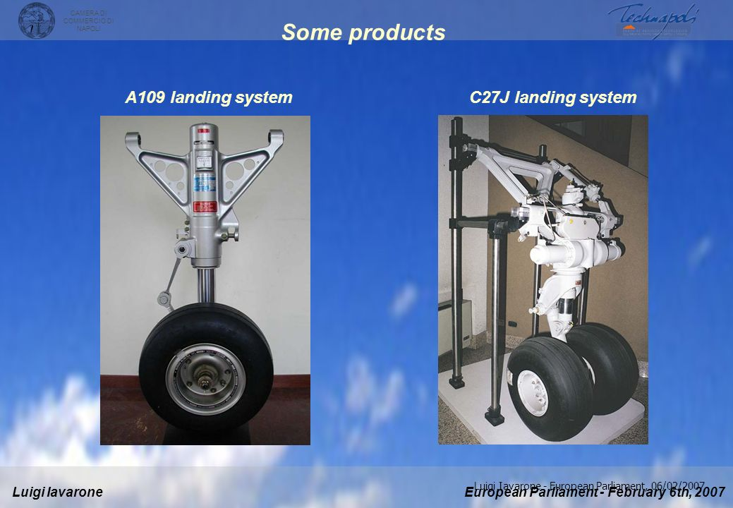 Some products A109 landing system C27J landing system