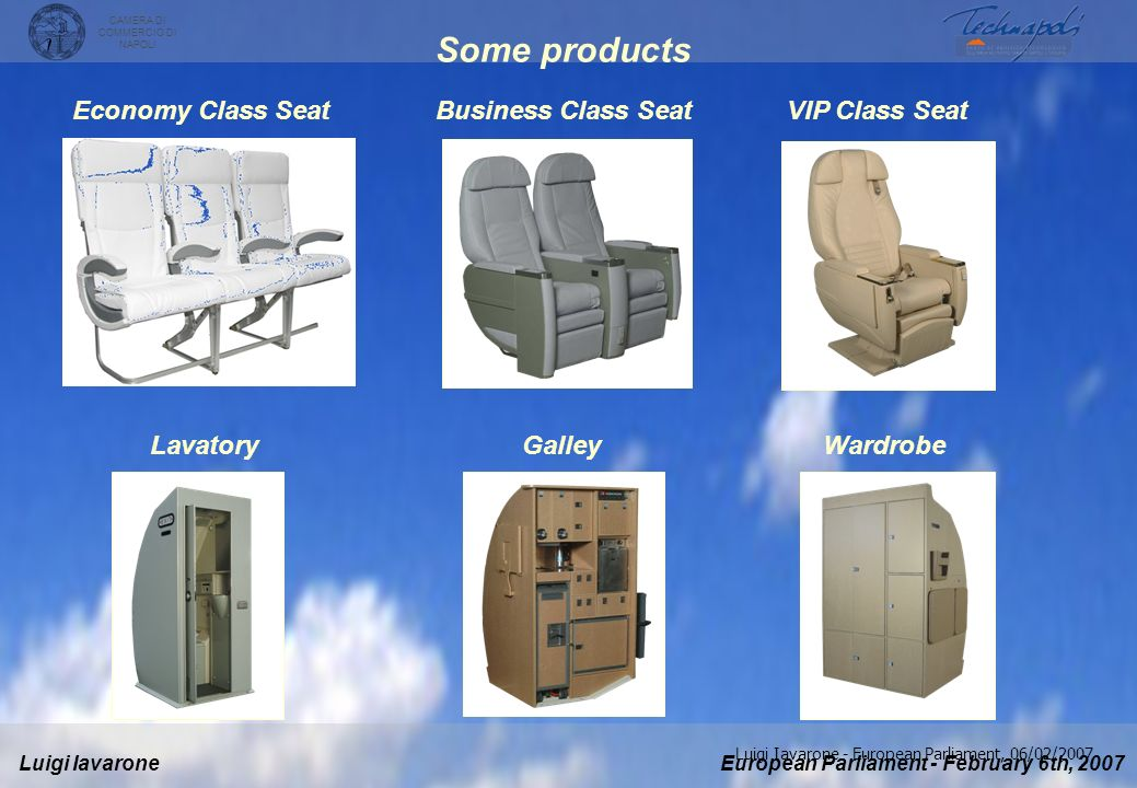 Some products Economy Class Seat Business Class Seat VIP Class Seat
