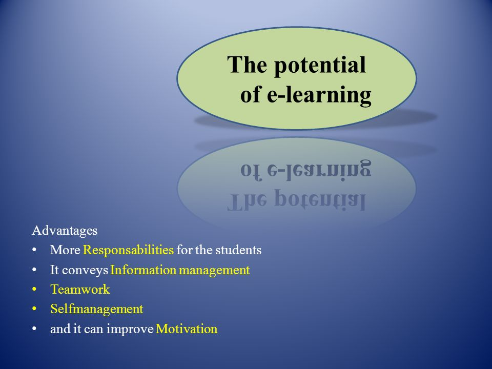The potential of e-learning