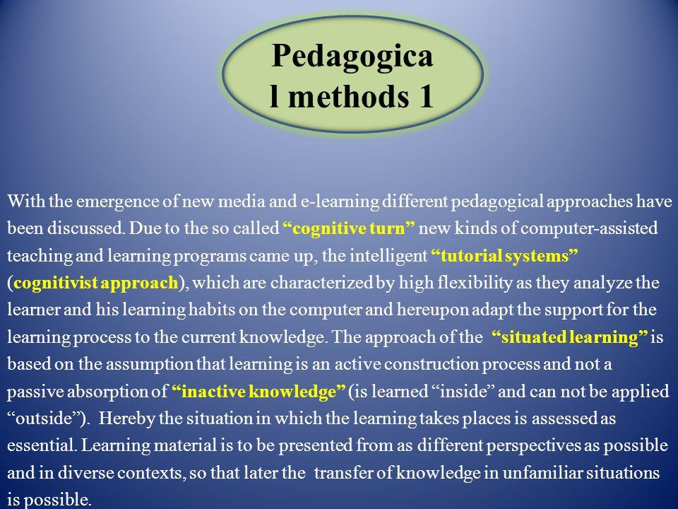 Pedagogical methods 1