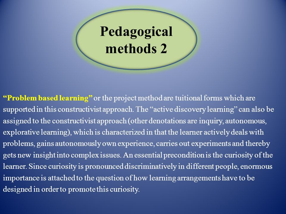 Pedagogical methods 2