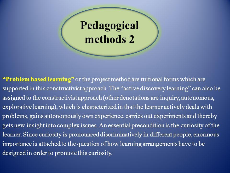 Pedagogical methods 2