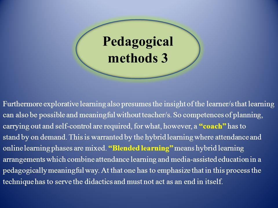 Pedagogical methods 3