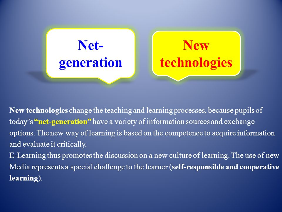 Net-generation New technologies