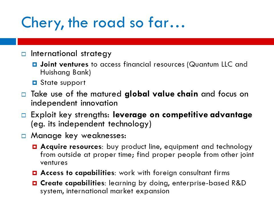 Chery, the road so far… International strategy
