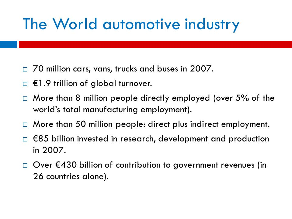 The World automotive industry