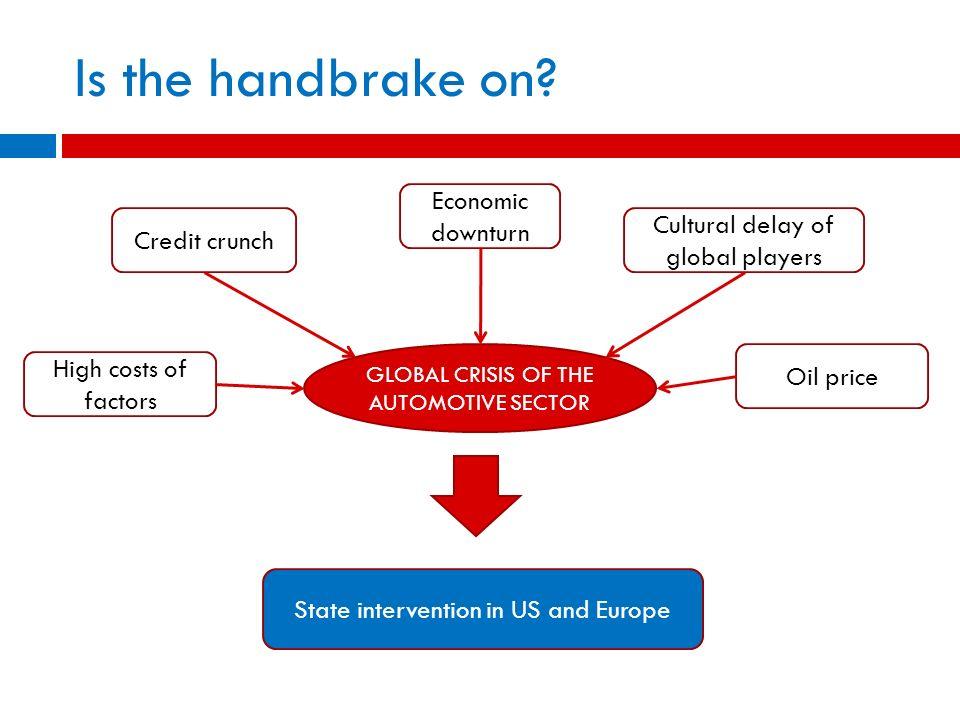 Is the handbrake on Economic downturn Credit crunch