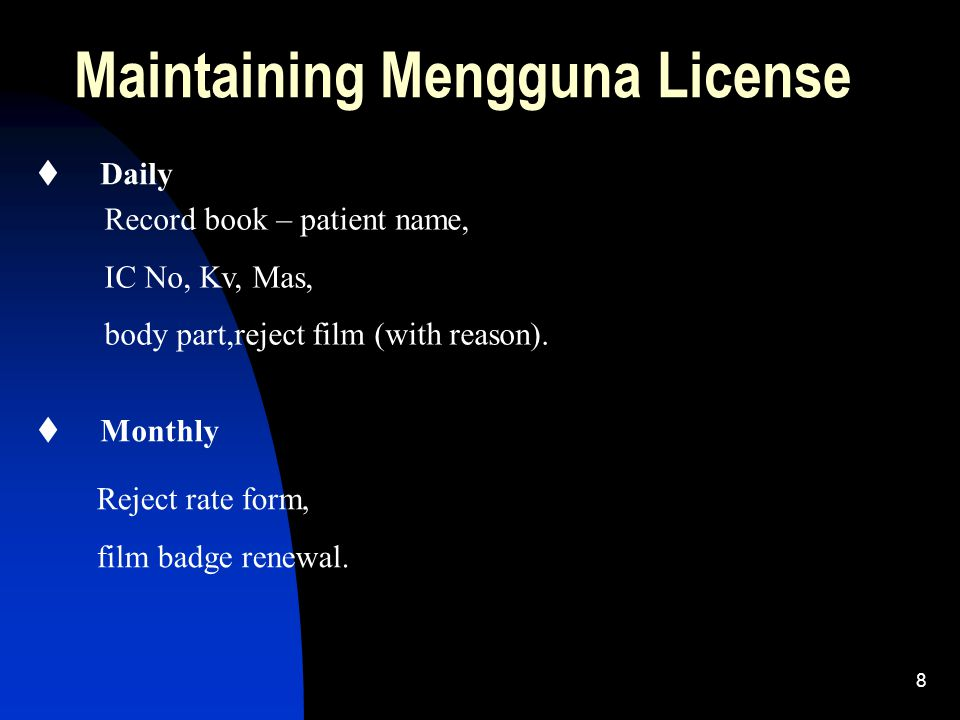Maintaining Mengguna License