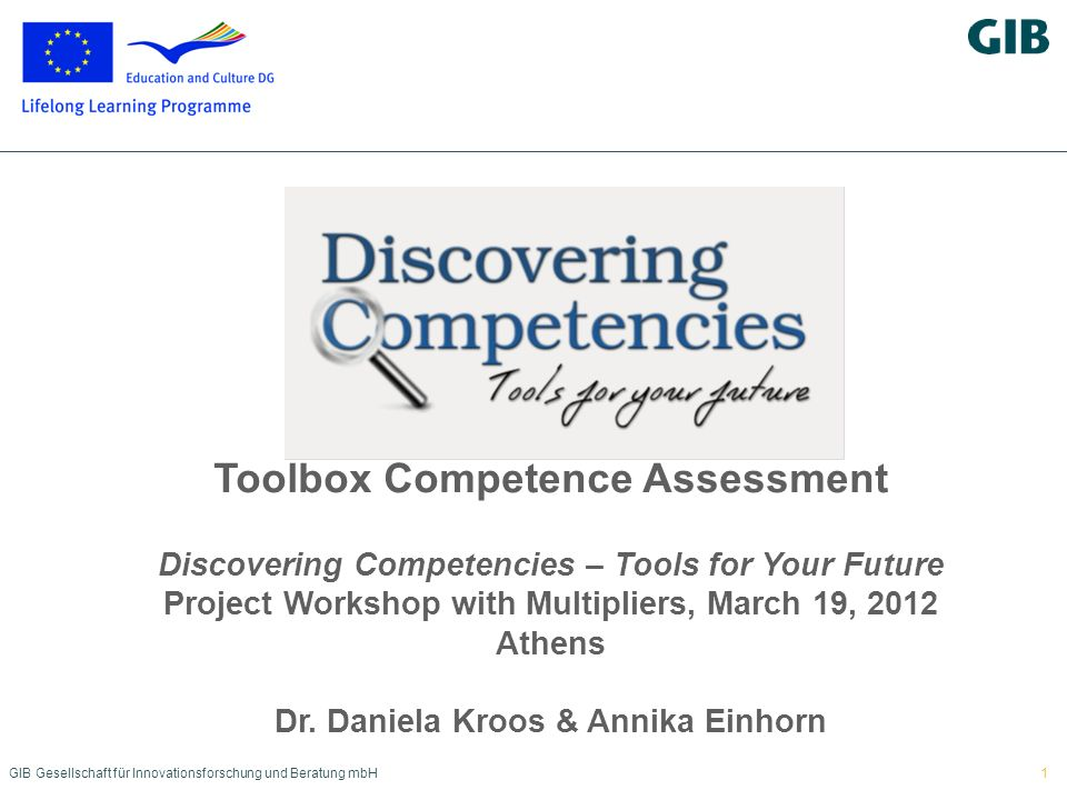 Toolbox Competence Assessment