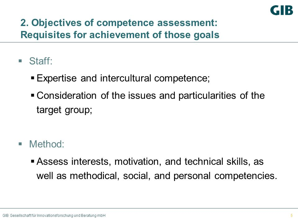 Expertise and intercultural competence;
