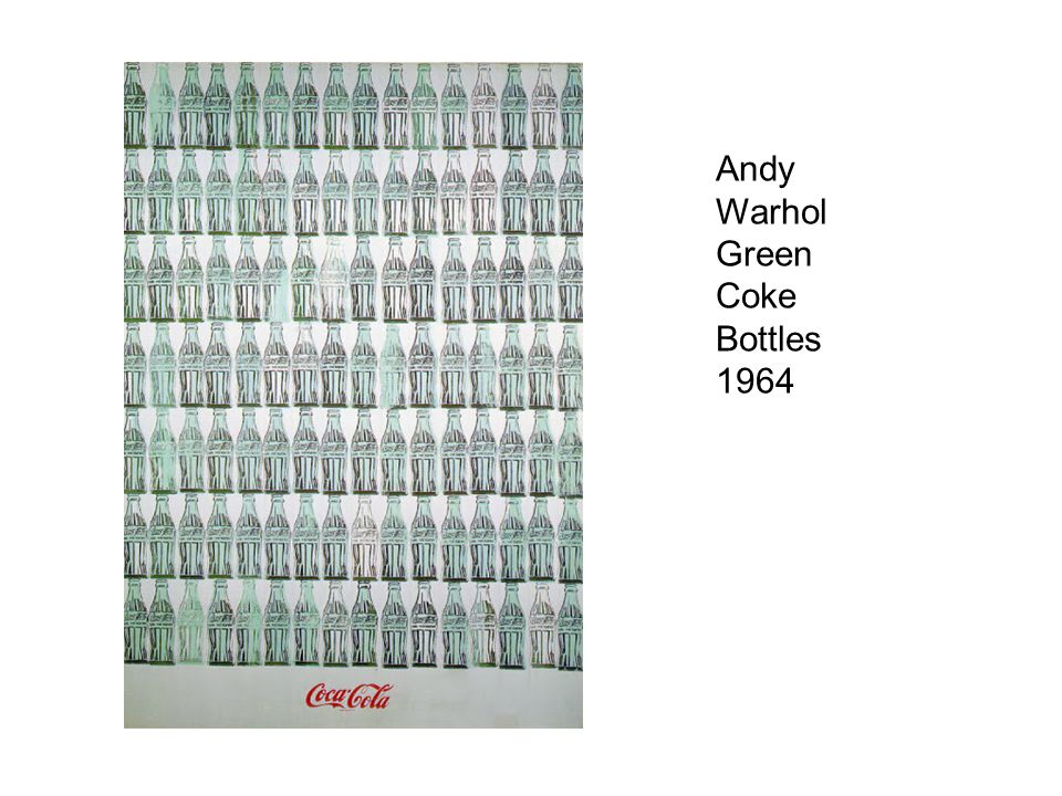 Andy Warhol Green Coke Bottles 1964