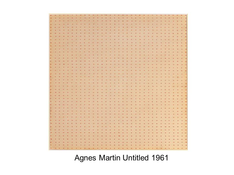 Agnes Martin Untitled 1961
