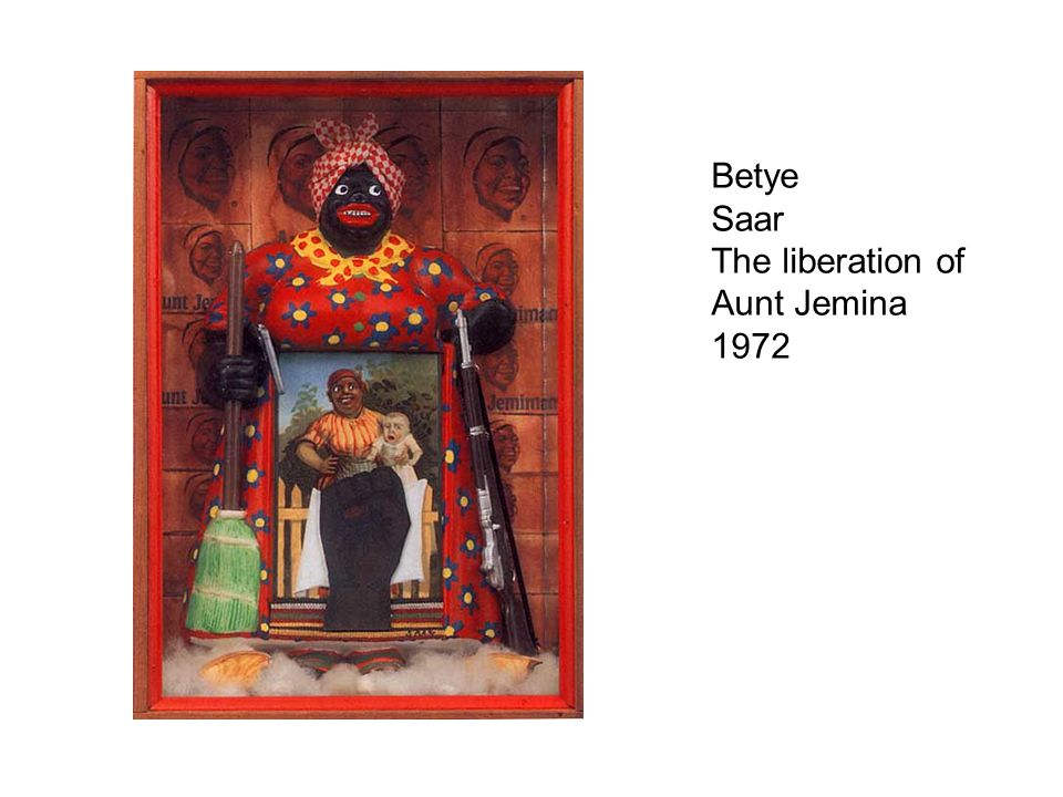 Betye Saar The liberation of Aunt Jemina 1972