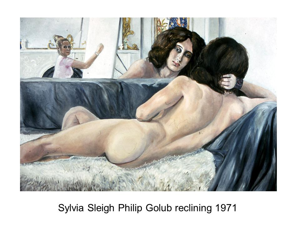 Sylvia Sleigh Philip Golub reclining 1971