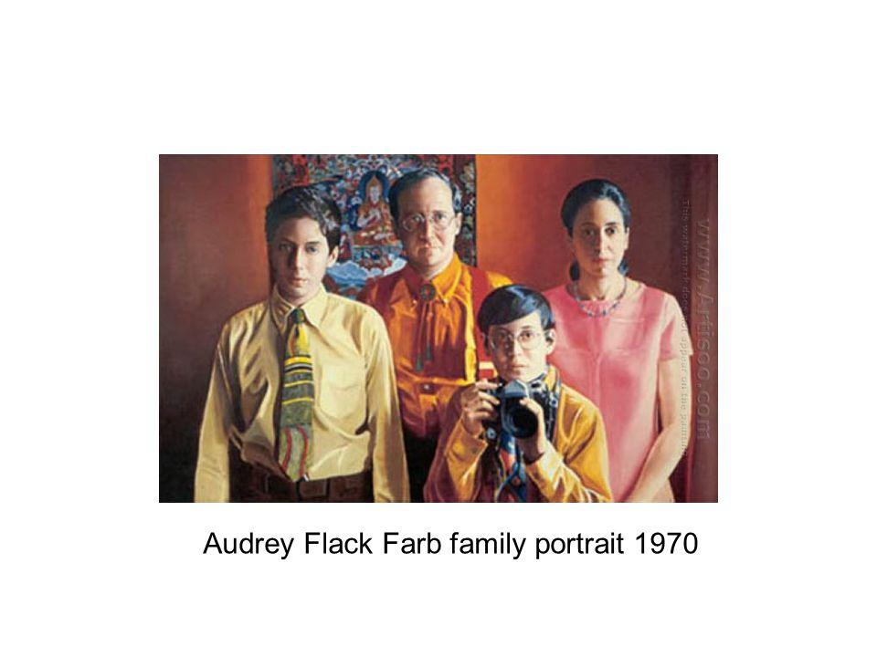 Audrey Flack Farb family portrait 1970
