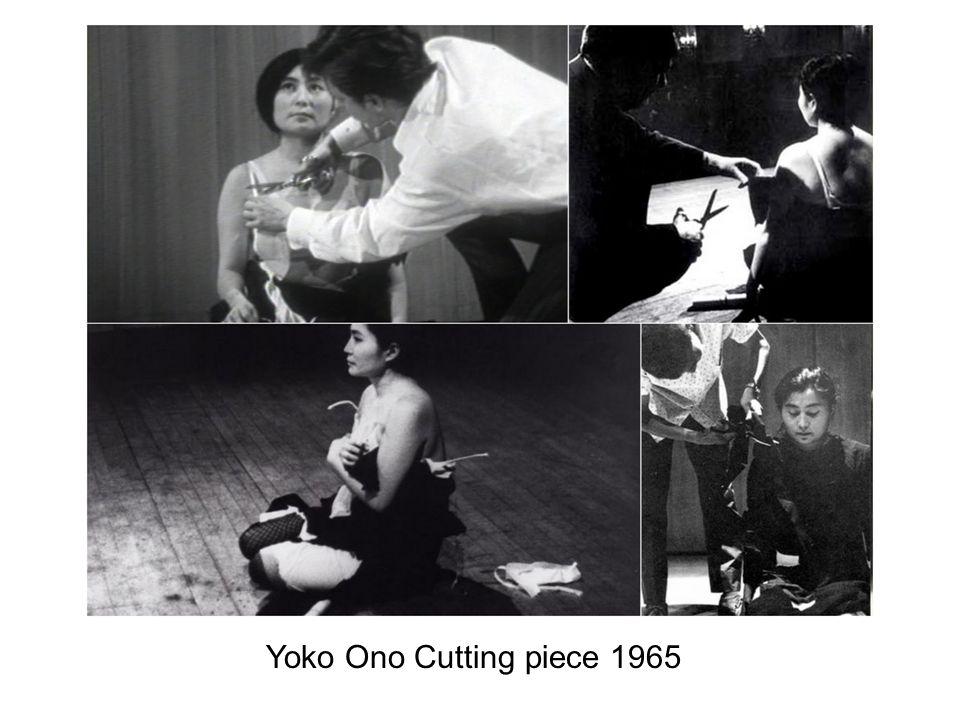 Yoko Ono Cutting piece 1965