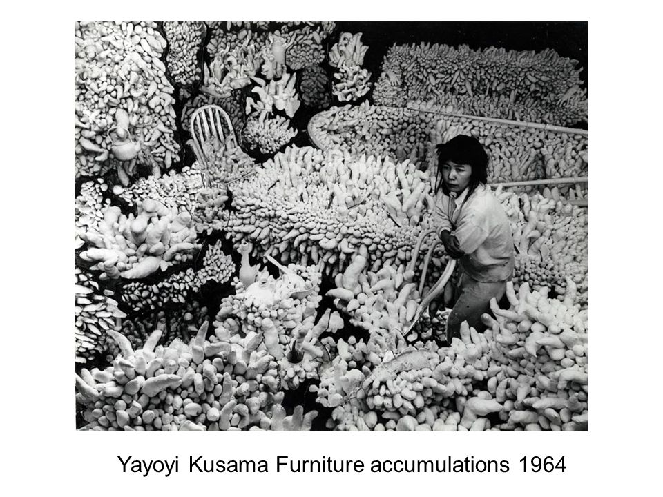 Yayoyi Kusama Furniture accumulations 1964