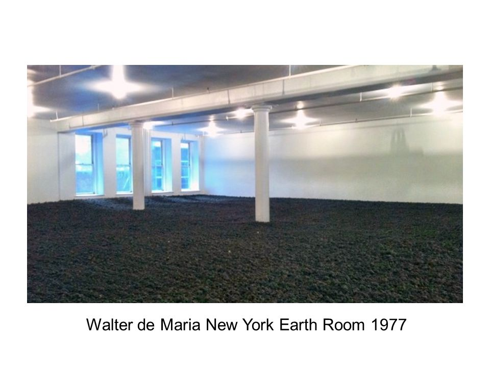 Walter de Maria New York Earth Room 1977