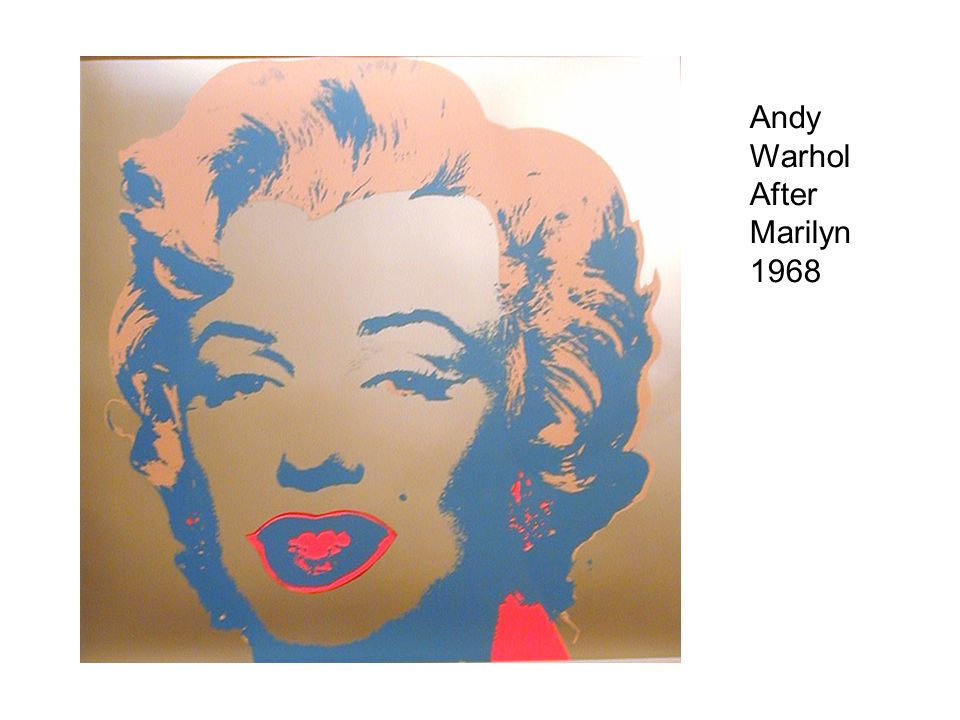 Andy Warhol After Marilyn 1968